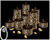 Lepard candles & petals