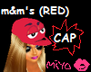 [Mi]m&m's CAP(red)