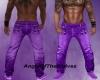 AOTW-Lila Kreuz Jeans