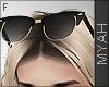 & Gold Glasses Head