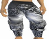 Grey Abstract pants