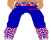 Red White n Blue pants