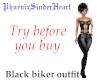 Black biker outfit