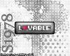 Lovable sticker