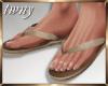 Tan Flip Flops Pip