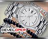 :D Silver Watch/Bracelet