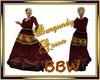 Burgundy Gown BBW