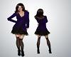 Velvet Vixen Purple Coat
