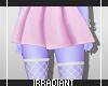Pink Skirt | White