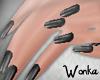 W°Short Nails~Liquorice