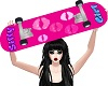 Pink Girly Skateboard