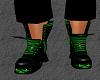 mens Green toxic DJ boot