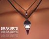 ▲ Necklace coeur crane