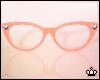 Peach Cateye Glasses