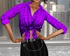 Royal Purple Casual Top