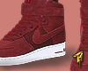"Air Force 1 "" Burgundy """