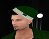 Santa Hat Green wit hair