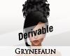 Derivable big bun hair 2