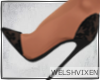 WV: Lace Heels Black