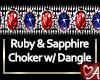 .a Sapphire Ruby Choker