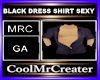 BLACK DRESS SHIRT SEXY