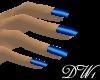 DW1 - Shiny Blue Nails