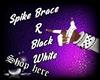 Spike Brace R BlackWhite