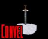 Sword in snow