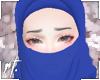 ¤ blue half niqab