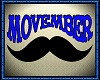 MOVEMBER floor sign