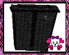 (LB)Black wicker bin