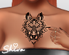 $ Chest Wolf Tattoo