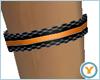 Black/Orange Garter (L)