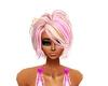 coiffure rose et blond