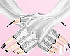 *V  Plastic White Gloves
