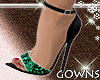 Green Snake Skin Heels