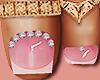 Feet Gold Ring Soft Pink