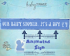 It's A boy Animated Sign