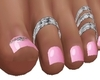 PINK DIAMOND TOE NAILS