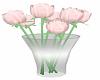 Pink Flowers Vase
