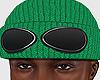Goggle Beanie Green
