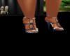Blue N' White Heels
