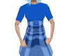 Plaid print dress (blue)