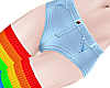 B! Jean Shorts Rainbow