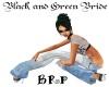 Black & Green Bride