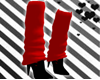 Shadow Red Loose Socks