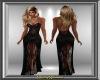 Black Satin & Lace Gown
