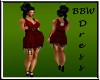 BBW Red Fringe Dress