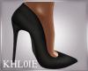 K sofe black heels