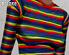 $ Rainbow Stripe Top